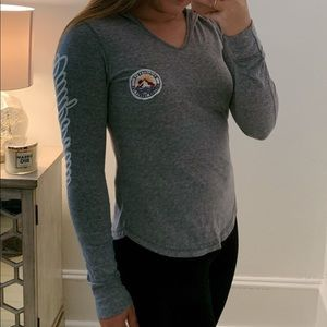Hollister Long Sleeve Fitted Top